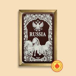 """Тройка с гербом """"Russia"""" (160 гр.)"""