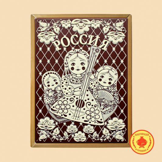 """Матрешки с балалайкой """"Россия""""(700 гр.)"""