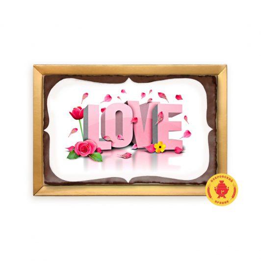 """Розовая надпись """"Love"""" (160 гр.)"""