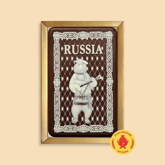"""Медведь с балалайкой """"RUSSIA"""" (160 гр.)"""