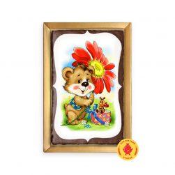 Медвежонок с цветком (160 гр.)