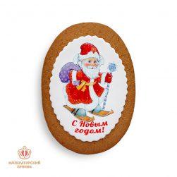 Дед Мороз на лыжах (40 гр.)