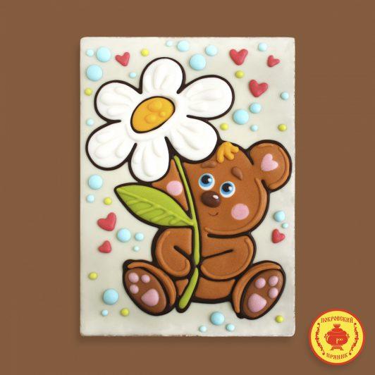Мишка с цветком (700 гр.)