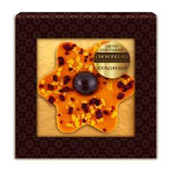 Цветок шоколадный апельсиновый (35 гр.)