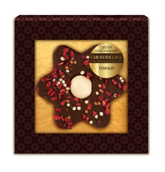 Цветок шоколадный темный (35 гр.)