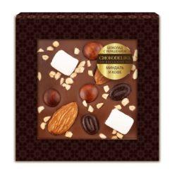Шоколад с украшением миндаль и кофе (35 гр.)