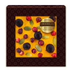 Шоколад с украшением облепиха и брусника (35 гр.)