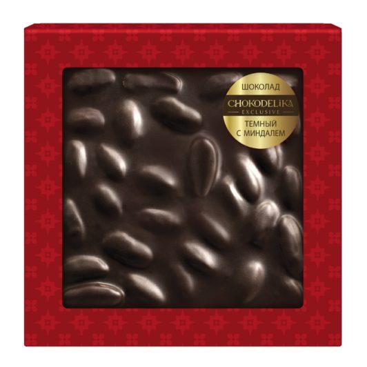 Шоколад темный с миндальным орехом (80 гр.)