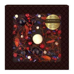 Шоколад темный с украшением годжи, смородина, брусника (75 гр.)