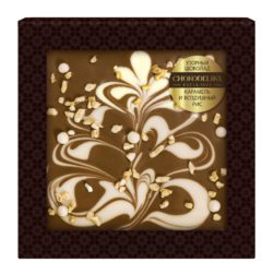 Шоколад узорный Карамель и воздушный рис (80 гр.)