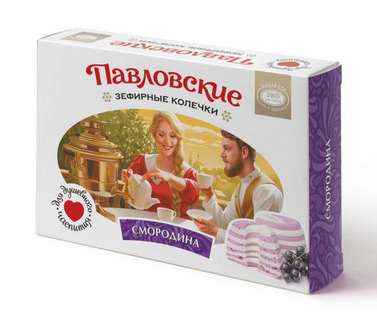 Павловские зефирные колечки со вкусом смородины