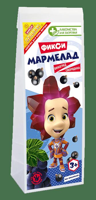 Фикси-мармелад без сахара «Виноград-смородина»