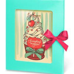 """Шоколадная открытка """"Сладкой жизни!"""""""