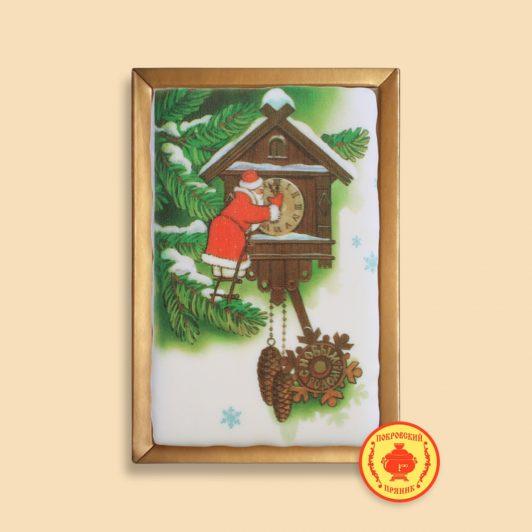 """Дед мороз и часы """"с новым годом"""" (160 гр)"""