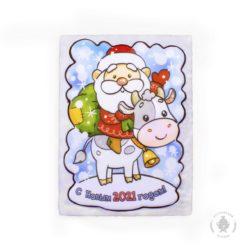 Дед мороз на бычке (700 гр.) Пластиковая коробка
