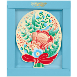 Шоколадная открытка «Букет цветов»