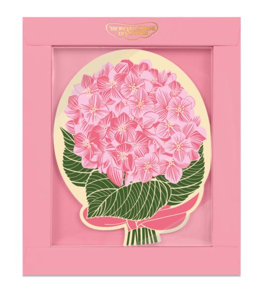 Шоколадная открытка «Букет гортензий»
