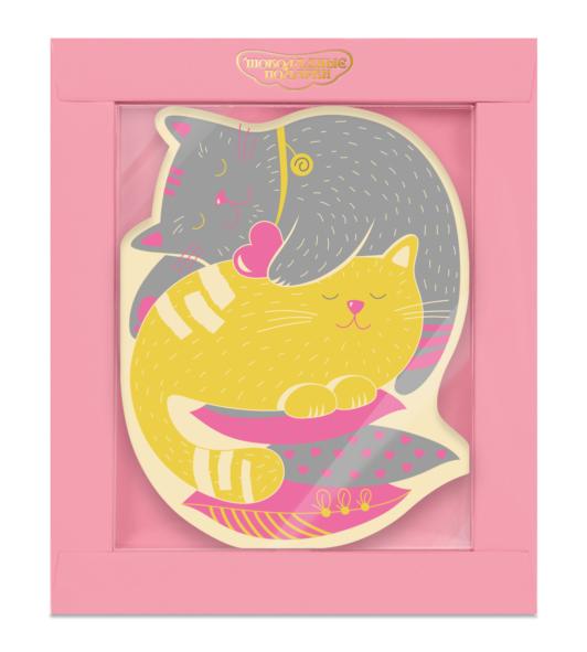 Шоколадная открытка «Котики»