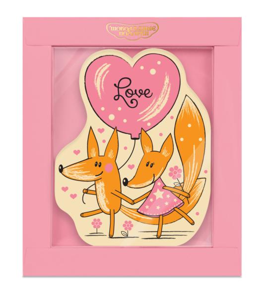 Шоколадная открытка «Лисята»