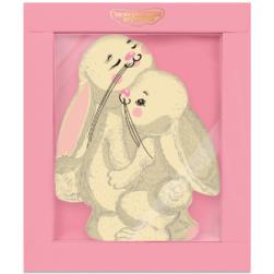 Шоколадная открытка «Зайки»