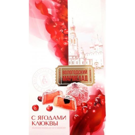 Мармелад Вологодский с ягодами клюквы 270 гр