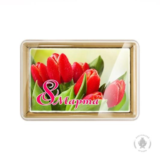 """Красные тюльпаны """"8 Марта"""" (160 грамм)"""