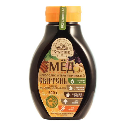 Мягкий натуральный мёд + прополис, 8 трав и пряностей СБИТЕНЬ