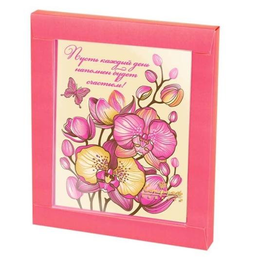 """Шоколадная открытка """"Орхидея"""""""