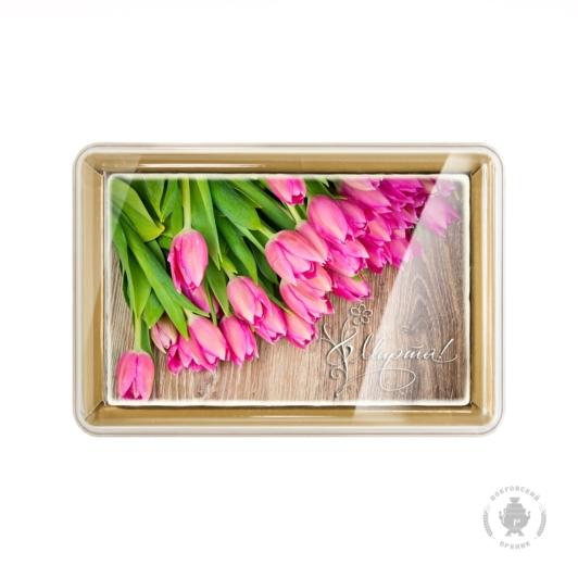 """Розовые тюльпаны """"8 Марта"""" (160 грамм)"""