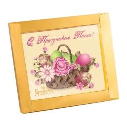 """Шоколадная открытка """"С праздником Пасхи!"""""""