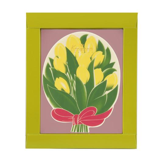 Шоколадная открытка «Тюльпаны»
