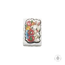 """Зайчик с цветами """"8 ка"""" (130 грамм)"""