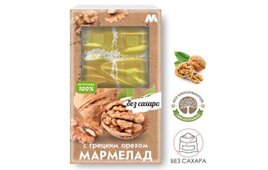 Мармелад с грецким орехом без сахара