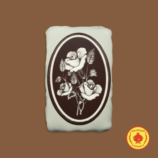 3 розы (овал) (160 гр.)